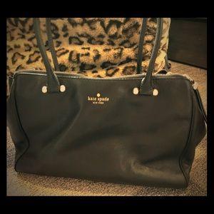 Kate Spade black tote with many zipper pockets